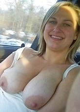 Chubby mature amateurs showing pussy in their cars